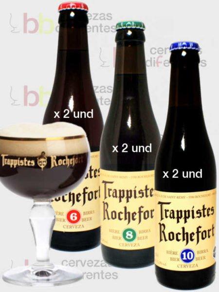 Rochefort_pack_copa_cervezas_diferentes