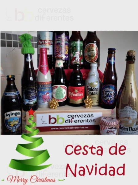 CESTA DE NAVIDAD cervezas diferentes