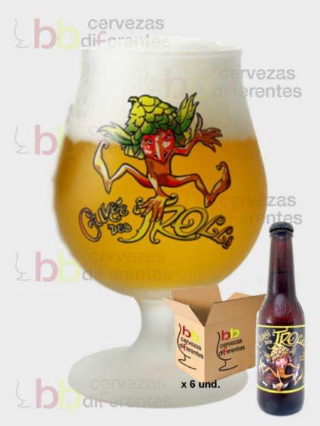Cuvee des Trolls copa pack 25 cl cervezas diferentes