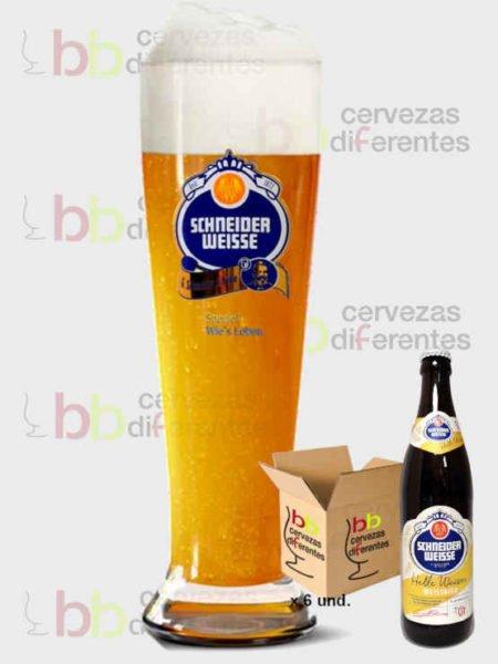 Schneider Weisse lote 6 Tap 1 y vaso_alemana_cervezas diferentes