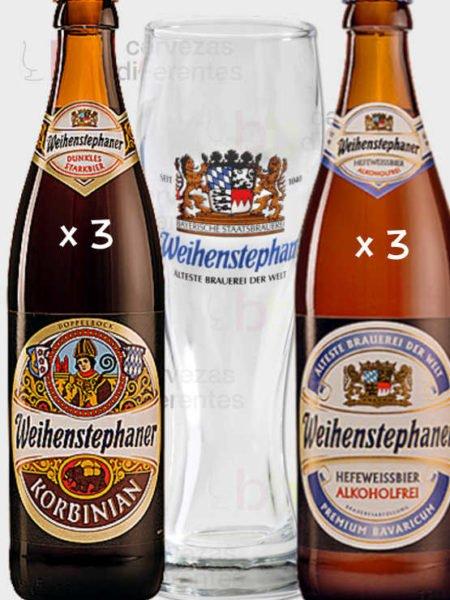 Weihenstephan_vaso_pack_cervezas_diferentes