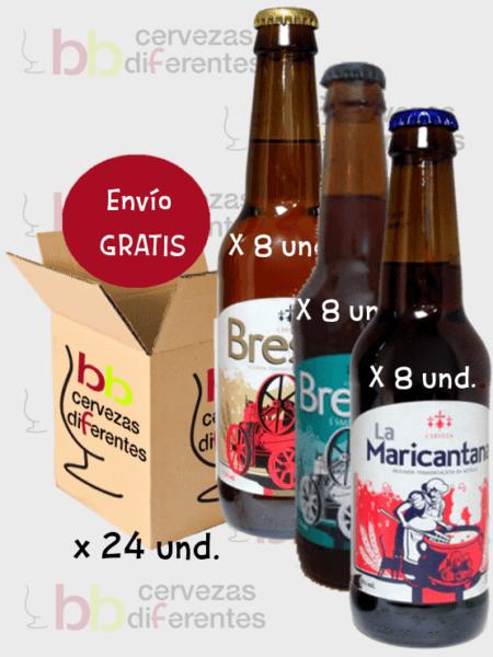 Bresañ _lote pack mixto 24 und_cerveza artesana palencia_cervezas diferentes