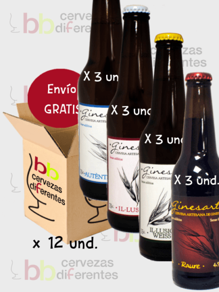 ginesart-3x-4-variedades_cerveza-artesana-tarragona_lote-pack-12-und_cervezas-diferentes