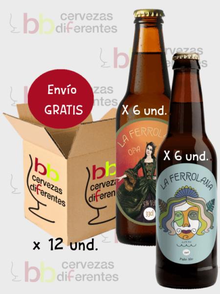 la-ferrolana_opa-ipa-y-pale-ale_cerveza-artesana_el-ferrol_lote-pack-mixto-12-und_cervezas-diferentes