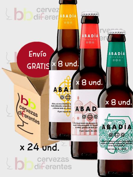 Abadia española_cerveza artesana valencia_ lotes pack mixto 24 und_cervezas diferentes