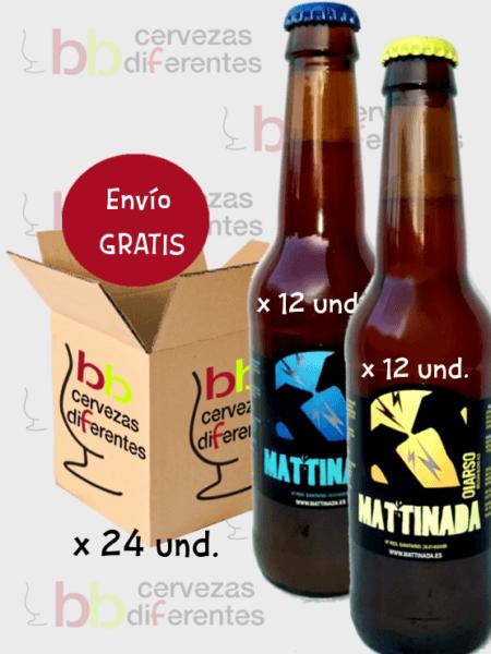 Mattinada Arauco Oiarso cerveza artesana_lote pack mix 24_cervezas diferentes