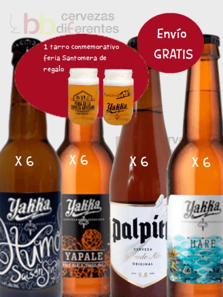 Yakka_pack mixto 24 botellas envio gratis tarro Santomera nov