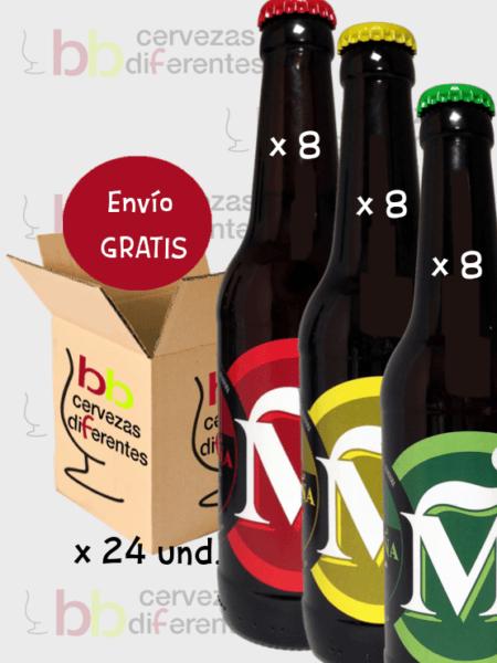 Madroña_artesana Madrid_lote mixto 24 und_cervezas diferentes