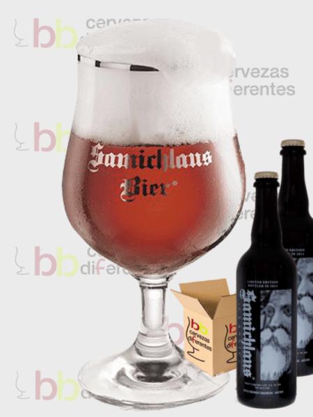 Samichlaus Barrique 75 cl_austria_lote 2 con copa_cervezas diferentes
