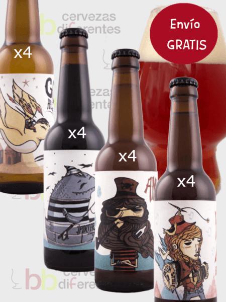 CERVEZAS 69 lote degustacón 16 botellas y vaso Diciembre 18