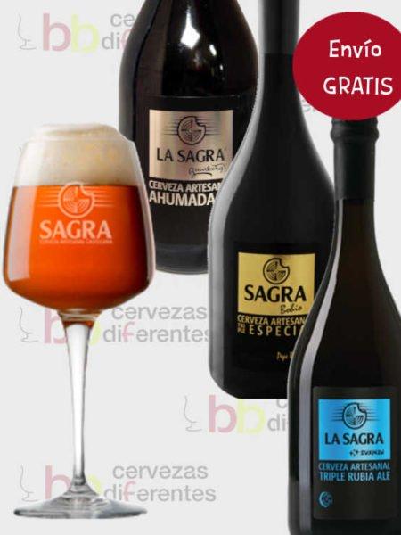 La Sagra pack con copa cervezas diferentes