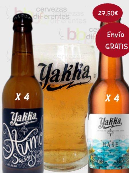 YAKKA lote desgustacion 8 botellas y un vaso 22 Diciembre