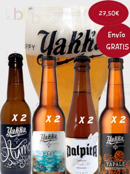 YAKKA lote desgustacion 8 botellas y un vaso 3 Diciembre
