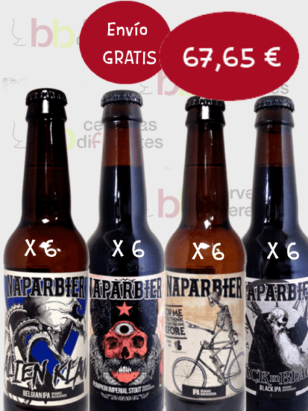 Naparbier_cerveza artesana_navarra_lote_pack mxto 5 DICIEMBRE