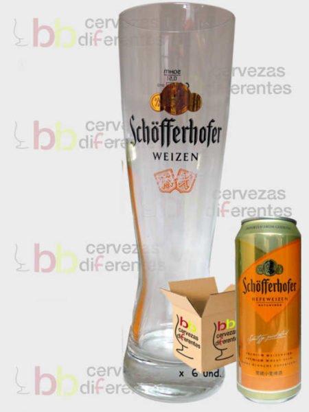 Schofferhofer Hefe_vaso_pack_latas_cervezas_diferentes
