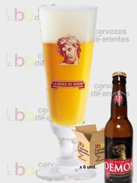 Biere du demon con copa cervezas diferentes