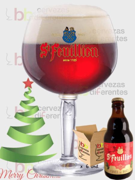 St Feuillien_belga_navidad_lote 6 y copa_2cervezas diferentes