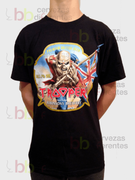 Iron Maiden Trooper beer_camiseta man L_cervezas diferentes