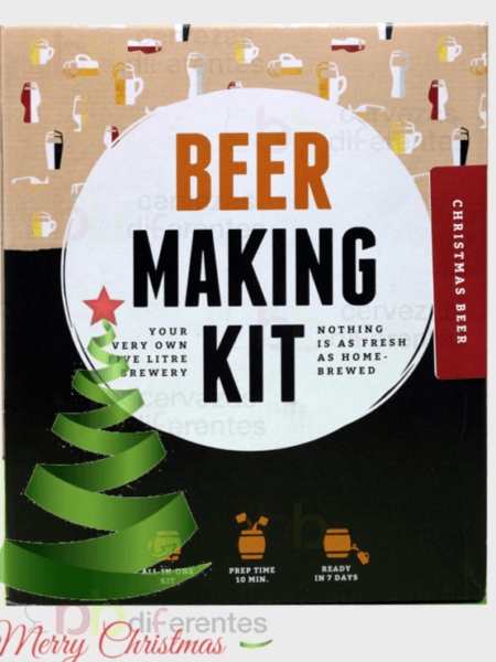 Kit para preparar cerveza_navidad_christmas beer_cervezas diferentes
