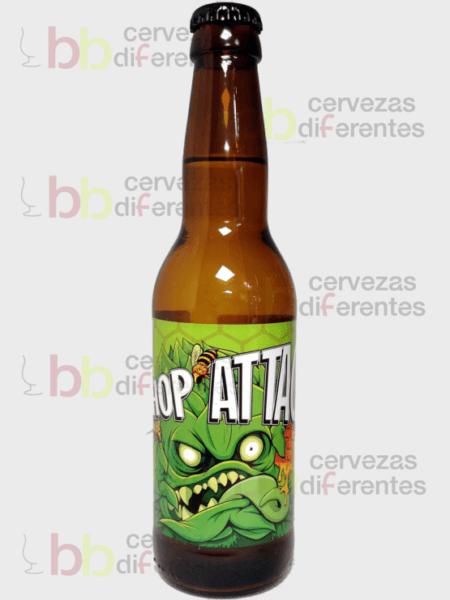 Crazy Bee hop attack_hidromiel 33cl_artesana_cervezas diferentes