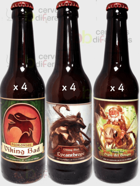 Viking bad_lote pack mixto 12 bot hidromiel 33cl_madrid_cervezas diferentes