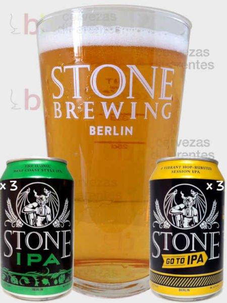 Stone_pack 6 con vaso_cervezas diferentes