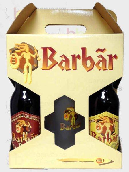 Barbar estuche para regalar_4botellas y 1 jarra_belga_cervezas diferentes