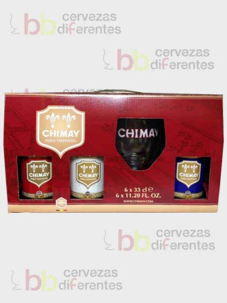 Chimay estuche con copa_belga_cervezas diferentes