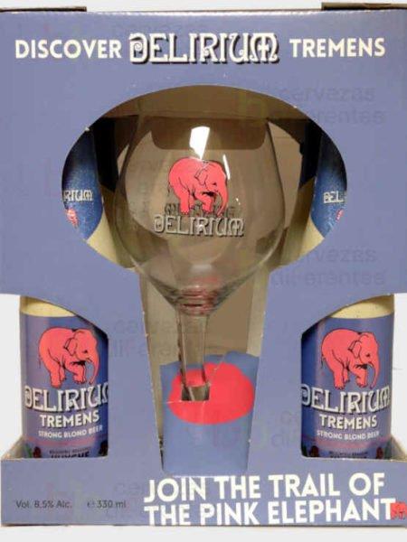 Estuche Delirium Tremens 4 y copa_belga_cervezas diferentes