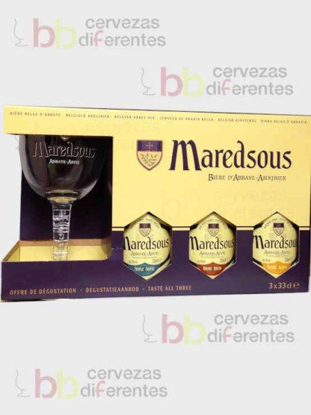 Estuche Maredsous 3 y copa_belga_cervezas diferentes