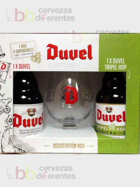 Estuche regalo Duvel_belga_2 y copa_cervezas diferentes