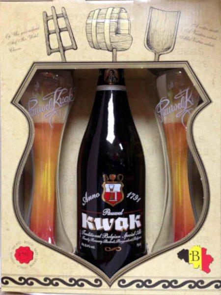 Estuche regalo Kwat 75cl_1bot y 2 vaso sin soporte_belga_cervezas diferentes