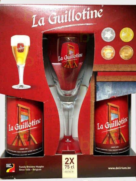 La guillotine estuche regalo_2 x75cl y vaso_belga_cervezas diferentes