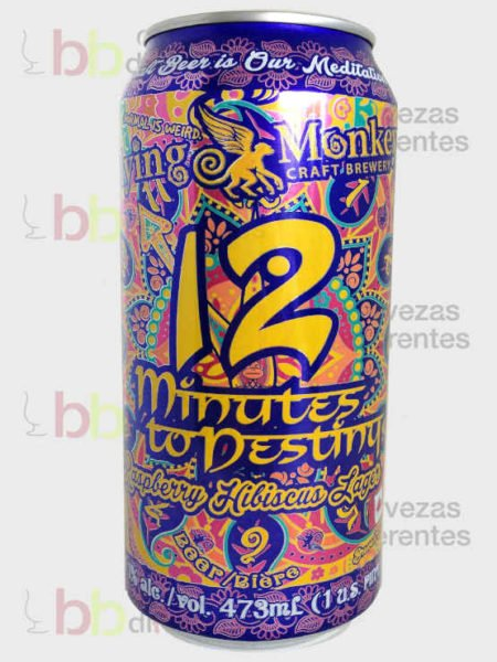 Flying Monkeys_12minutes to destiny raspberry hibiscus lager_canada_cervezas diferentes