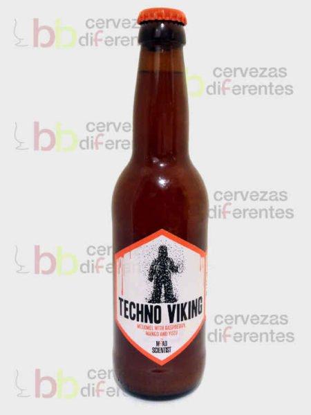 Mad Scientist_Hidromiel Techno viking con frambuesa mango y yuzu_hungria_cervezas diferentes